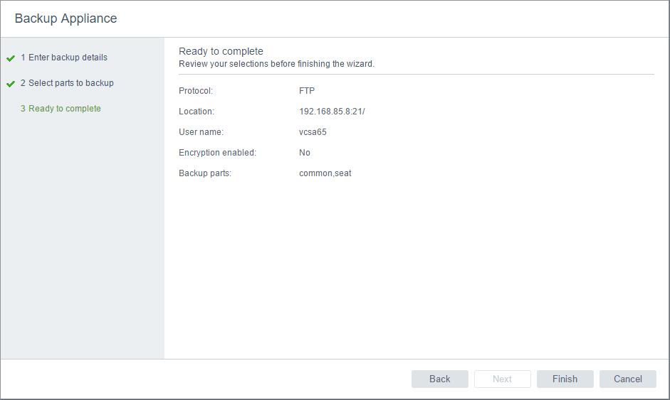 vcsa65bak04 New VMware VCSA 6.5 Appliance Backup