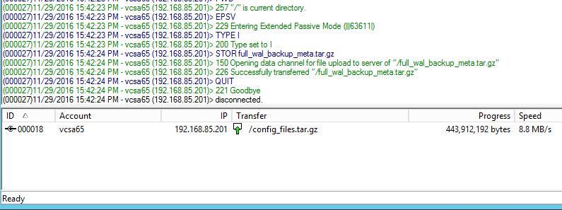 vcsa65bak06 New VMware VCSA 6.5 Appliance Backup
