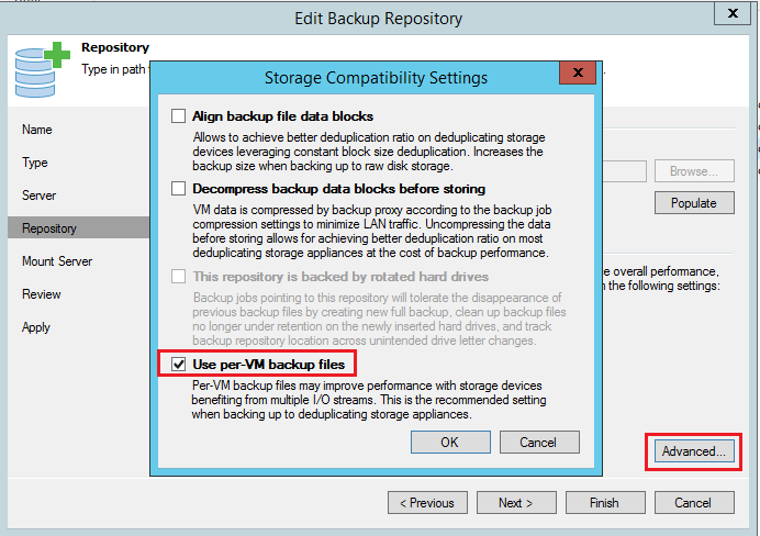 Configure Veeam Backup and Replication for optimal