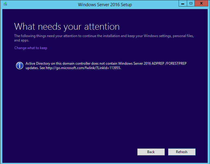 w2012dc16up11b Upgrade Windows Server 2012 R2 Domain Controller to Windows Server 2016