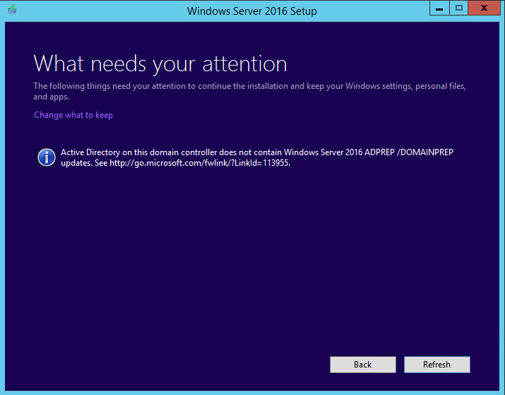 w2012dc16up11f Upgrade Windows Server 2012 R2 Domain Controller to Windows Server 2016