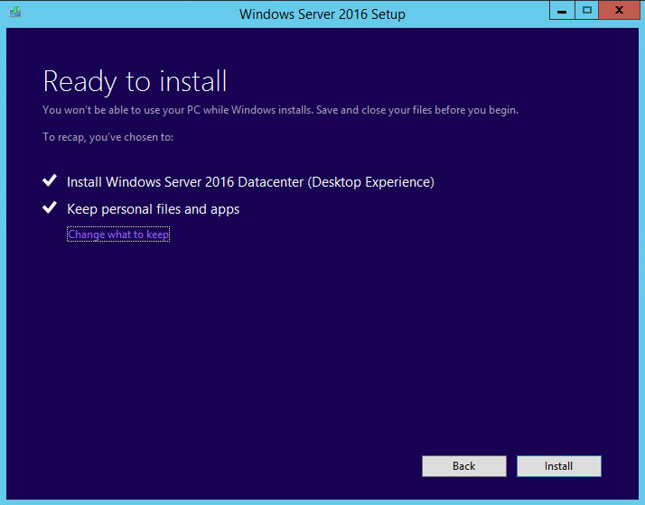 w2012dc16up14 Upgrade Windows Server 2012 R2 Domain Controller to Windows Server 2016