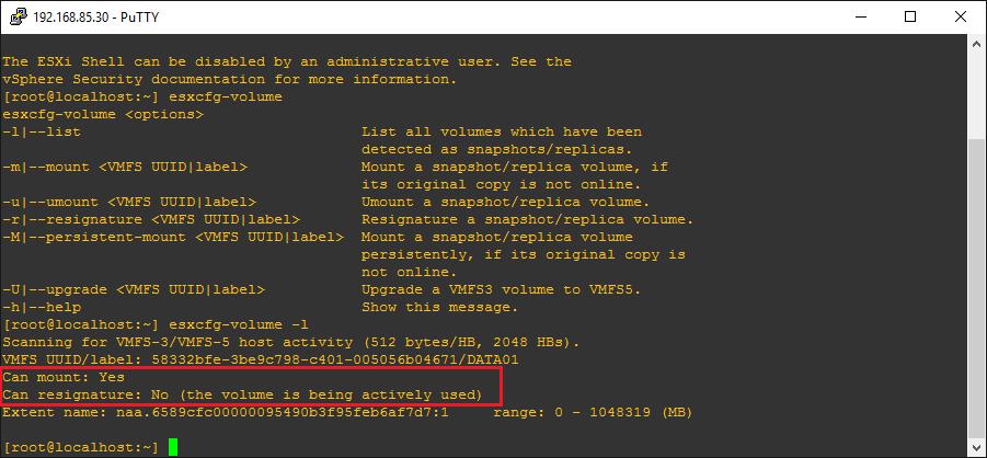 esxi65lun05 VMware ESXi 6.5 Can't Add Existing iSCSI LUN