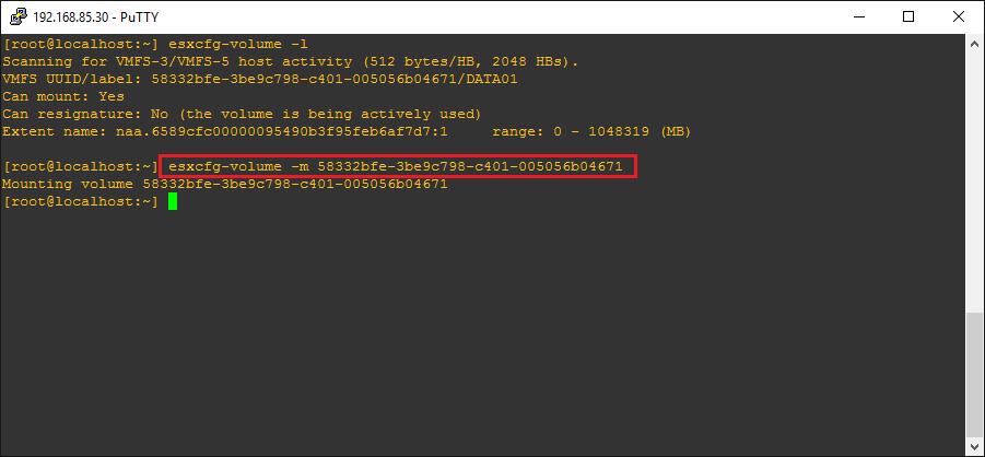 esxi65lun06 VMware ESXi 6.5 Can't Add Existing iSCSI LUN