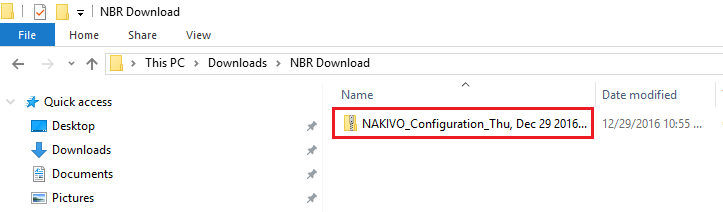 nbrexport06 Export Nakivo Backup and Replication configuration to another appliance