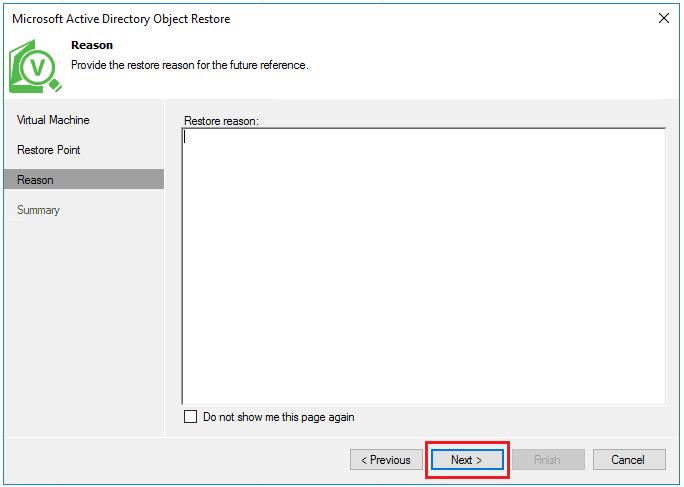 vbr_ad05 Veeam Restore Windows Server 2016 Active Directory Objects