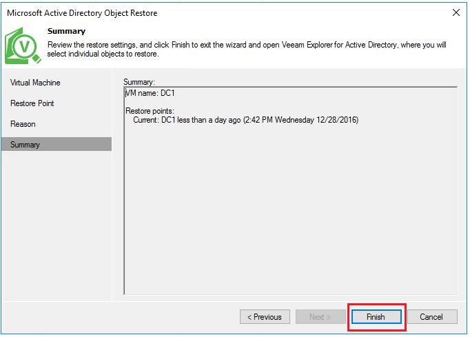 vbr_ad06 Veeam Restore Windows Server 2016 Active Directory Objects