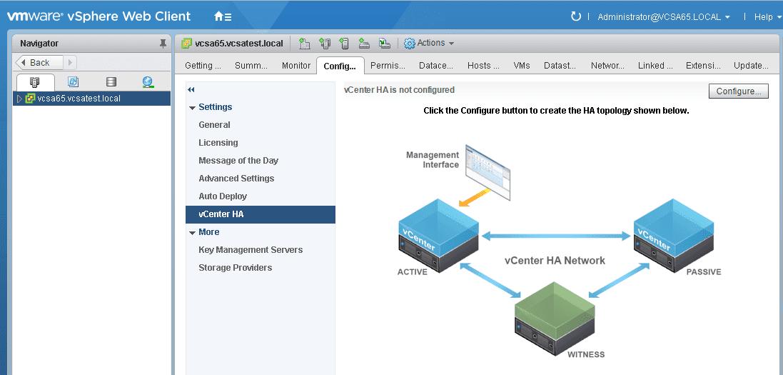 vcsa65_ha01 How to Configure VMware VCSA 6.5 HA