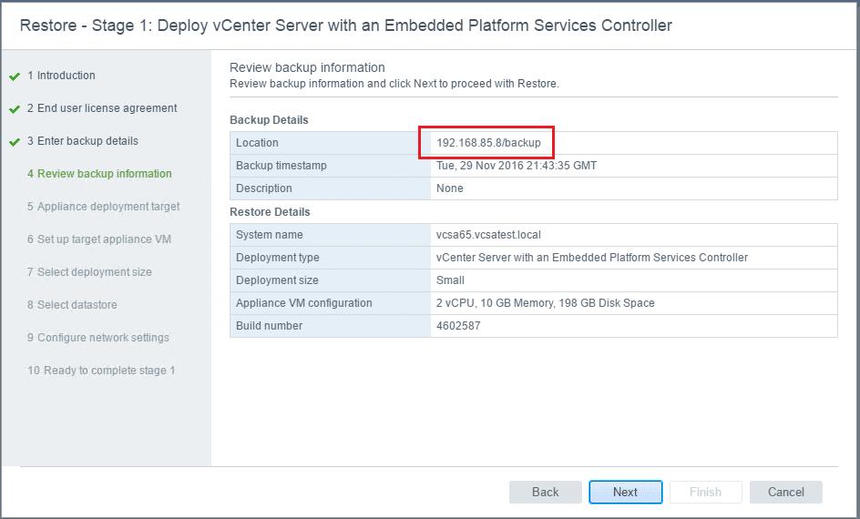 vcsa65_rest06 VMware VCSA 6.5 Appliance Restore