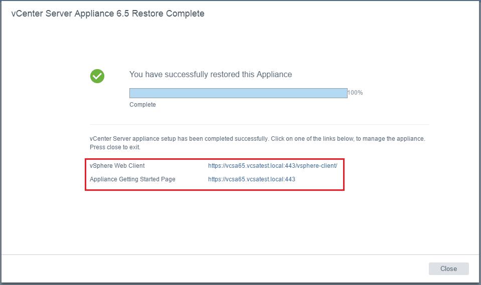 vcsa65_rest22 VMware VCSA 6.5 Appliance Restore