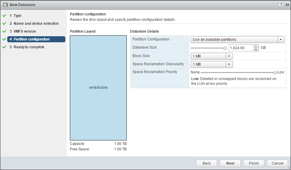 vmfs6_05 How to Create VMFS 6 Datastore in VMware vSphere 6.5