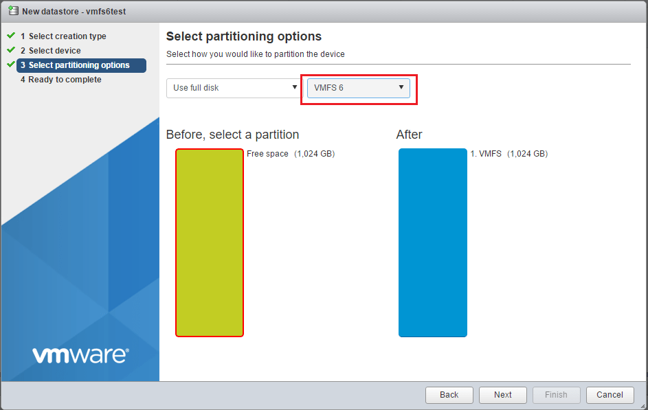 vmfs6_11 How to Create VMFS 6 Datastore in VMware vSphere 6.5