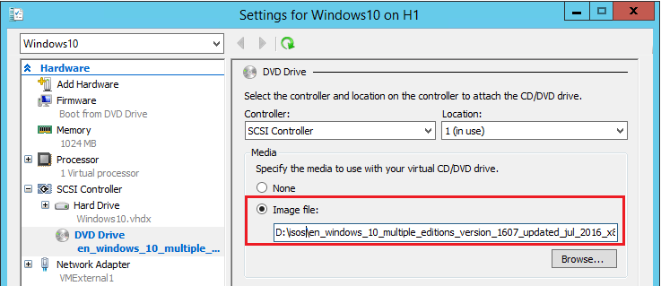 hyperviso02 Copy ISO file to Windows Server 2016 Hyper-V