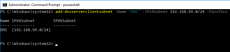 win16dnspol01 Windows Server 2016 DNS Policy Deny Subnet Access to Zone