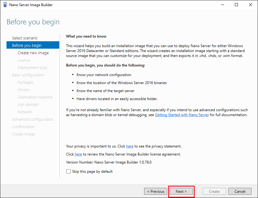 Install Windows Server 2016 Hyper-V Nano Server in VMware