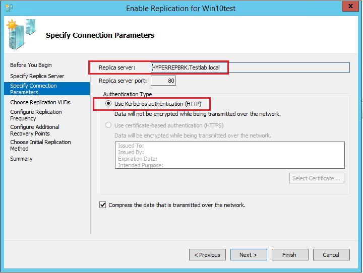 repreceive06 Setup Windows Server 2016 Hyper-V VM Replication