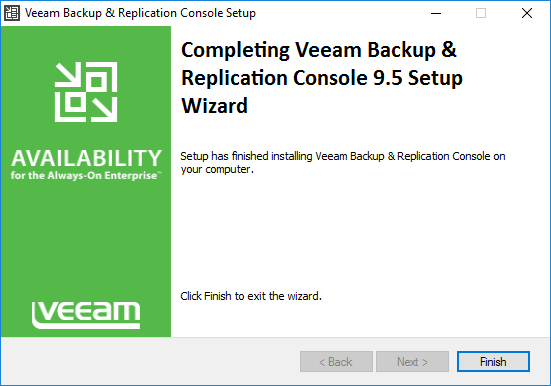 veeamcon06 Install Veeam 9.5 Backup and Replication Remote Console with PowerShell Snapin