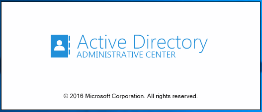 dsac16_01 Windows Server 2016 Active Directory Administrative Center