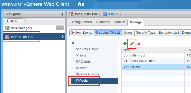 Change VMware NSX IP Pools after creating - Virtualization Howto