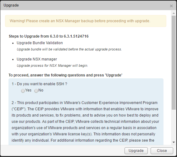 upnsxman06 Upgrading VMware NSX Manager to 6.3.1