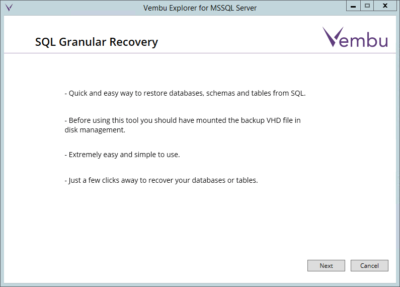 vembuapp03 Vembu BDR Suite Consistent Application Aware Backup and Restore