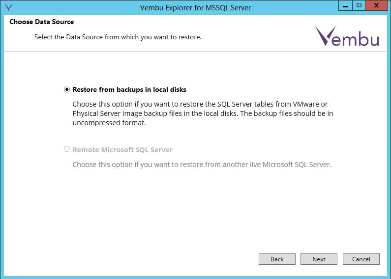 vembuapp04 Vembu BDR Suite Consistent Application Aware Backup and Restore