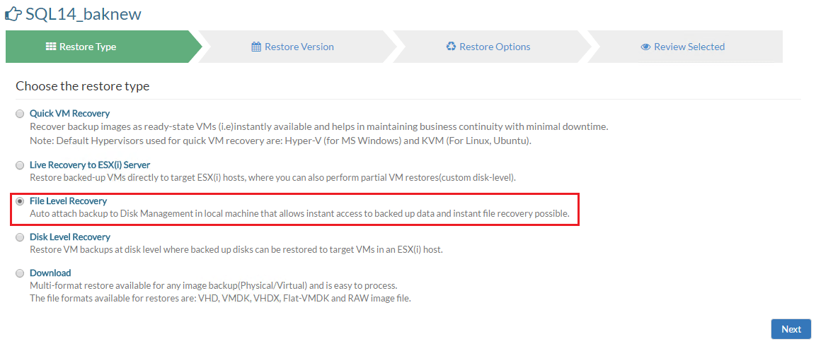 vembuapp05 Vembu BDR Suite Consistent Application Aware Backup and Restore