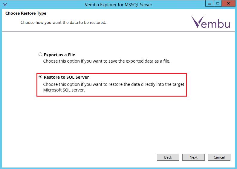vembuapp09 Vembu BDR Suite Consistent Application Aware Backup and Restore