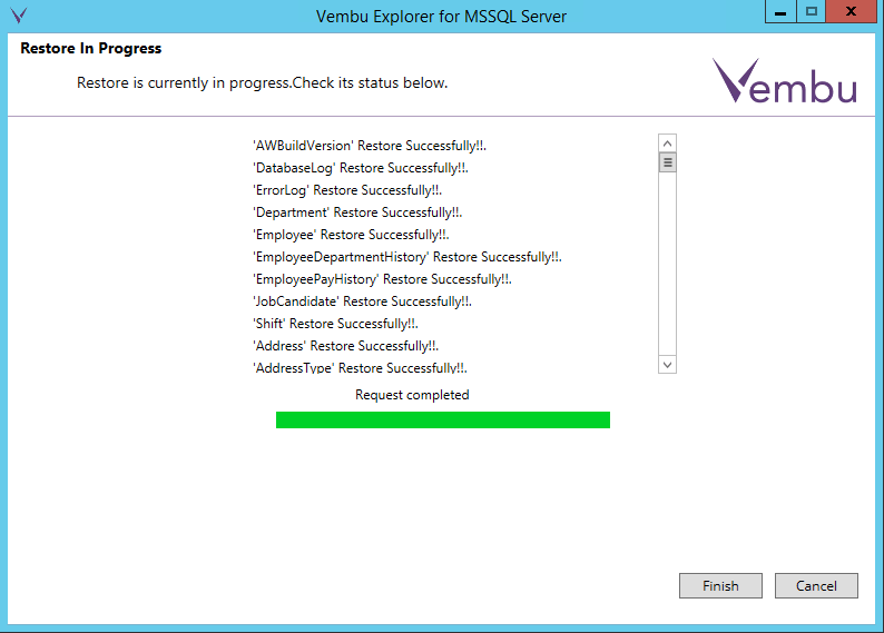 vembuapp16 Vembu BDR Suite Consistent Application Aware Backup and Restore