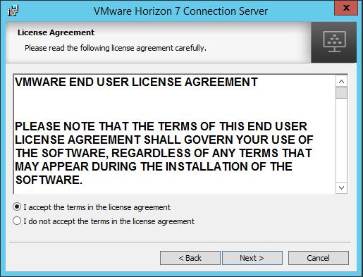 viewcon03 Installing VMware Horizon View 7.1 Connection Server