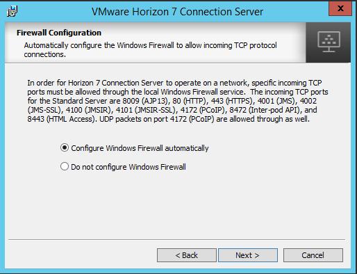 viewcon07 Installing VMware Horizon View 7.1 Connection Server