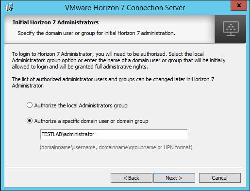 viewcon08 Installing VMware Horizon View 7.1 Connection Server