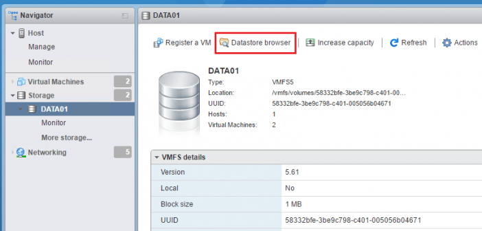 Four ways to upload files to VMware vSphere datastore