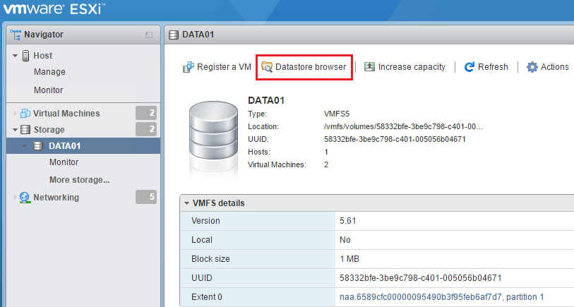 Four ways to upload files to VMware vSphere datastore