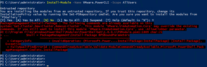 pcli651_03 VMware PowerCLI 6.5.1 New Way to Install