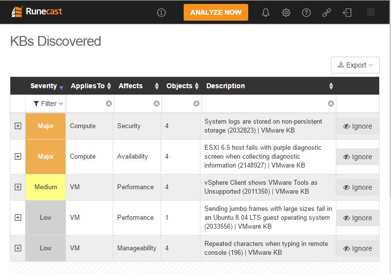 runecast20 Automate VMware Best Practices with Runecast Analyzer