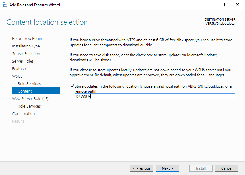 wsus16_09 Install and Configure Windows Server 2016 WSUS