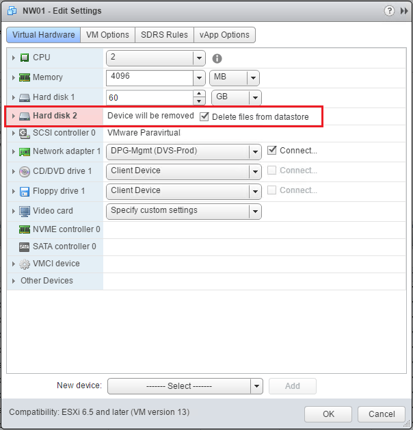 nvmecon05 Change Paravirtual to NVMe virtual storage controller in vSphere 6.5
