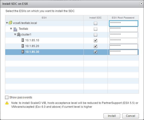 sciovm08 Install ScaleIO 2.0 in VMware vSphere 6