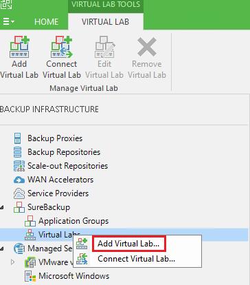 veaamlab01 Create Veeam Isolated Sandbox Virtual Lab