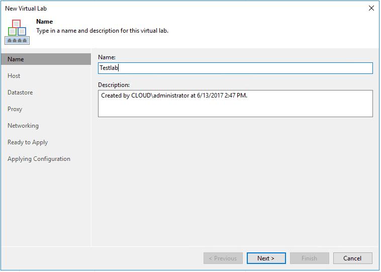 veaamlab02 Create Veeam Isolated Sandbox Virtual Lab