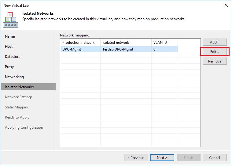 veaamlab08 Create Veeam Isolated Sandbox Virtual Lab