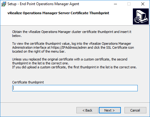 Install vRealize Operations Manager 6 6 Endpoint Agent