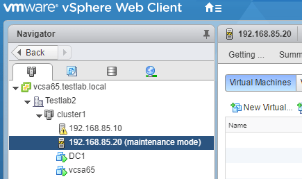 ESXi-host-is-now-in-maintenance-mode Upgrade to VMware ESXi 6.5 Update 1 using VUM