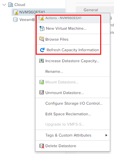 Prior-to-Update-1-we-cant-register-VMs-from-teh-storage-screen Upgrading VMware vSphere VCSA Appliance to 6.5 Update 1