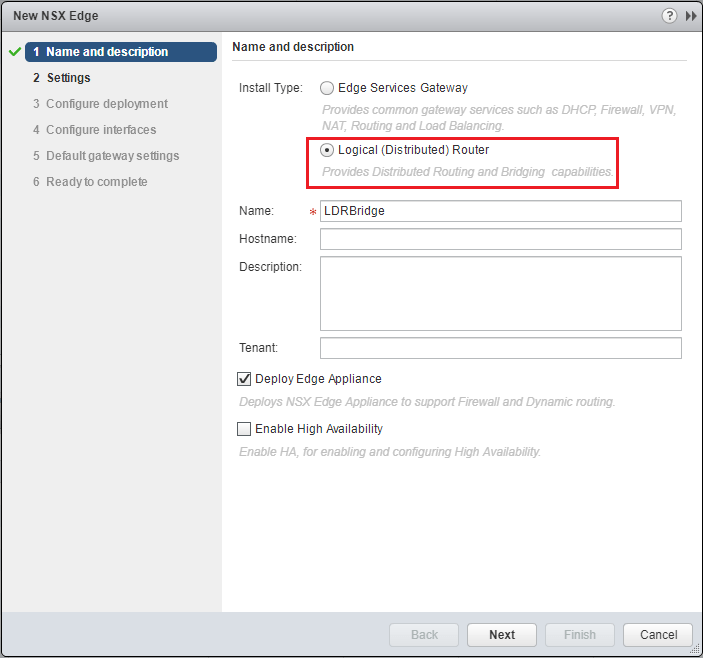 lswitch03 Extend layer 2 DR network with VMware NSX