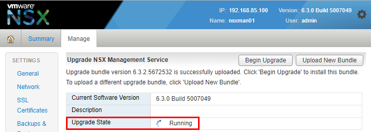 nsxmanup13 Upgrading VMware NSX to 6.3.2 NSX Manager