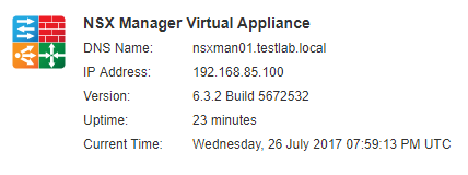 nsxmanup21 Upgrading VMware NSX to 6.3.2 NSX Manager