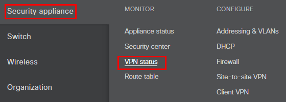 Check-Azure-VPN-status Configure Meraki to Azure Site to Site VPN