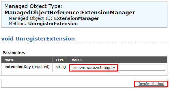 Paste-in-the-Extension-value-key Managing Disabling Deleting VMware vCenter Server Plugins